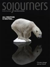 Polar bear on shrinking ice from the December 2009 issue of Sojourners
