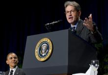 Author Eric Metaxas speaks at the National Prayer Breakfast. (Getty Images)