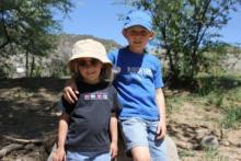 On a hike below the mesa, Photos via Christian Piatt