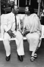 John and Lillian Lewis in 1988. Atlanta Journal Constitution file/Johnny Crawfor