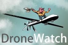 Drone Watch. Image by Kurt Lightner for Sojourners.