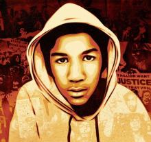 Trayvon Martin concept. Illustration courtesy benjaminisraelrobinson.com/wal