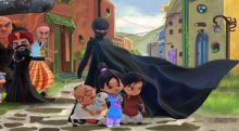 Geo Tez introduces the Burka Avenger. Photo courtesy RNS/Geo TV