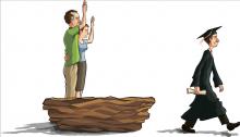 A high school graduate leaves the nest. Illustration by Mike Elliott/shutterstoc