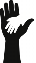 Helping hands. Image courtesy Dr.G/shutterstock.com.