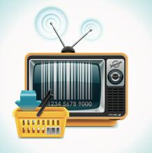 Commercials on TV. Image courtesy tele52/shutterstock.com.