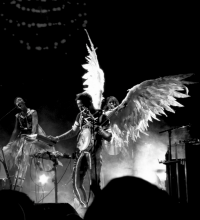 Sufjan Stevens. Black and white version of image via Tammy Lo/flickr.com