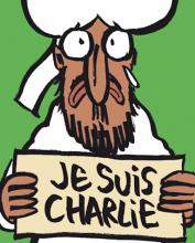 Screenshot of Charlie Hebdo cover illustration. Image via RNS.
