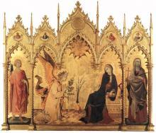 Simone Martini, Annunciation 1333 C.E.