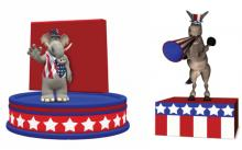 Republican and Democratic platform illustrations, Jeffrey Collingwood / Shutters