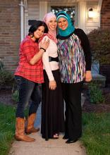 Sisters Shadia, Suehalia, and Samira from All American Muslim. Image via TLC.