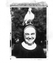 Sister Annunziata, in a favorite photo from her days in Rome.