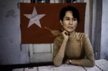 Nobel laureate and Burmese opposition leader, Ang San Suu Kyi.