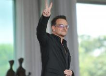 Rock star and international AIDS activist, Bono, in Brazil, April 2011. Photo by