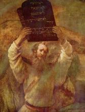 """""""Moses mit den Gesetzestafeln"""" via Wylio [http://www.wylio.com/credits/Flickr/35"""