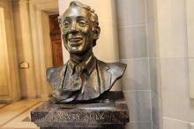 Bust of Harvey Milk. By Son of Groucho/Wylio http://bit.ly/L3rfmq.