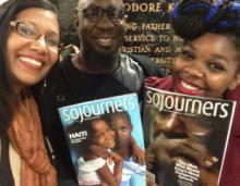 Lisa Sharon Harper, Dillard University Chaplain Ernest Salsberry and a first year student. Image via Sojourners.