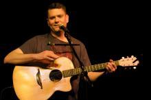 Jason Harrod in concert, Raleigh NC 2010. Image via the artist.