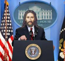 """Jesus as President."" Image via Christian Piatt/Patheos."