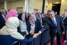President Obama visits the Islamic Society of Baltimore mosque