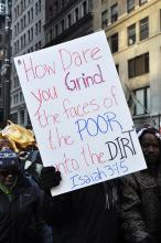 Protest sign from an Occupy march in New York City on Oct. 30. Image via Wylio.