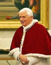 Pope Benedict XVI's profile picture from his Twitter account @PopeBenedictXVI