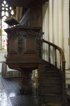 Pulpit of St. Mary le Tower in Ipswich, UK. Via Wylio  http://bit.ly/wTWgaL