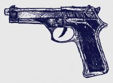 Gun sketch, Aleks Melnik / Shutterstock.com