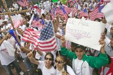 Immigration reform rally, spirit of america / Shutterstock.com