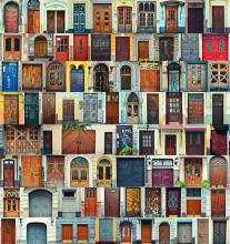 church front doors, natamc / Shutterstock.com