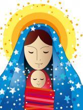 Mary and Jesus. Image courtesy Milena Moiola/shutterstock.com