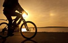 Cyclist at sunset, maradonna 8888 / Shutterstock.com