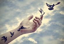 Bird tattoos come to life, Marianne D / Shutterstock.com