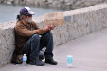 Homeless man photo, JustASC / Shutterstock.com