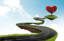 Lent as the road toward love. Image courtesy Giordano Aita/shutterstock.com