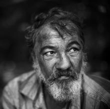Homeless man, Kuzma / Shutterstock.com