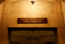 Sign above John Boehner's Capitol office, Katherine Welles / Shutterstock.com
