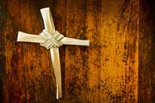 Palms fashioned into a cross, Ricardo Reitmeyer / Shutterstock.com