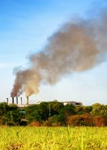 Air pollution from a factory. Image courtesy Bohbeh/shutterstock.com
