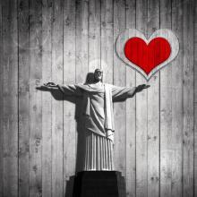 Jesus is love illustration, patrice6000 / Shutterstock.com
