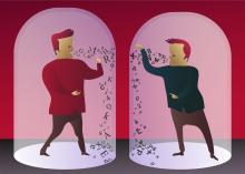 Communication breakdown illustration, durantelallera / Shutterstock.com.