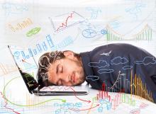 Man overworking, mast3r / Shutterstock.com