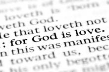Text from the Bible. Image courtesy Lane V. Erickson/shutterstock.com
