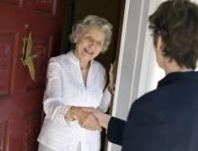 Door-to-door solicitor photo, EdBockStock / Shutterstock.com
