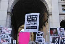 Ferguson support rally in New York City, a katz / Shutterstock.com