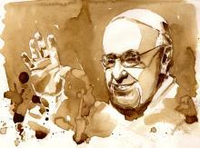 Pope Francis portrait, DeepGreen / Shutterstock.com
