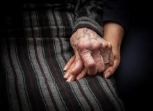 Holding hands in a nursing home