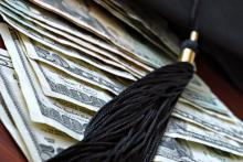 Student loan debt illustration, Marie C Fields / Shutterstock.com