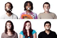 Silenced young people, doglikehorse / Shutterstock.com