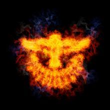 Illustration of the Holy Spirit flame, AridOcean / Shutterstock.com